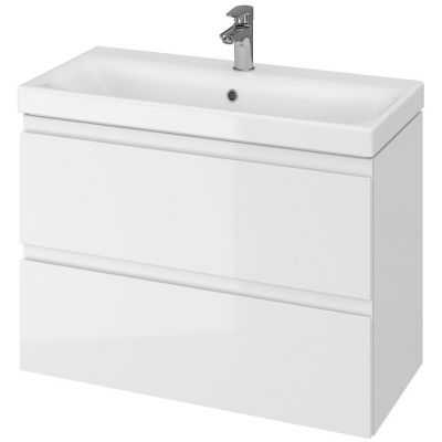 Cersanit Moduo umywalka z szafką 80 cm zestaw meblowy Slim biały S801-225