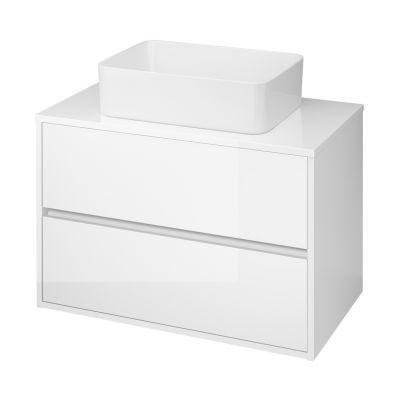 Cersanit Crea szafka 80 cm wisząca z blatem biała S924-005