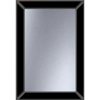 Dubiel Vitrum Domino Black lustro prostokątne 80x55 cm