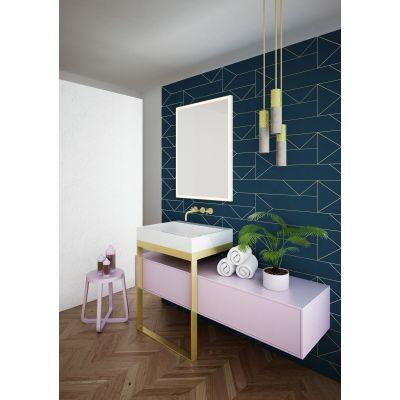 Dubiel Vitrum Solid White lustro prostokątne 80x60 cm z oświetleniem