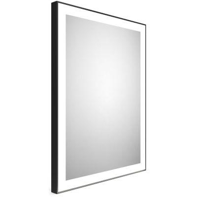 Dubiel Vitrum Logan Black lustro prostokątne 80x60 cm z oświetleniem