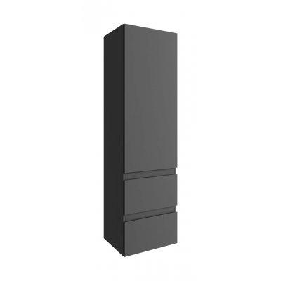 Defra Como szafka 140 cm wisząca grafit połysk 123-C-04008