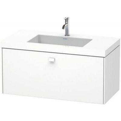 Duravit Brioso zestaw umywalka z szafką 100 cm wiszącą biały mat BR4602O1818
