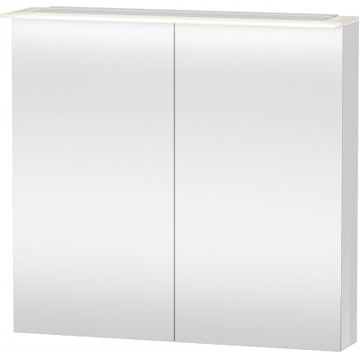 Duravit Happy D.2 szafka 80x76 cm lustrzana z oświetleniem LED biały połysk H2759402222