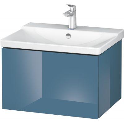 Duravit L-Cube szafka 62 cm podumywalkowa wisząca kamienny błękit wysoki połysk LC614404747