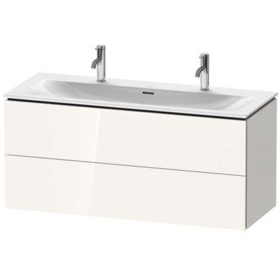Duravit L-Cube szafka 122 cm podumywalkowa wisząca biały wysoki połysk LC630902222