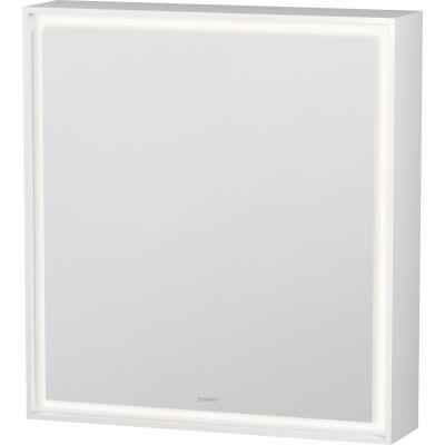 Duravit L-Cube szafka 65x70 cm lustrzana z oświetleniem LED lewa biały mat LC7550L0000