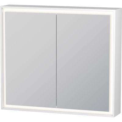 Duravit L-Cube szafka 80x70 cm lustrzana z oświetleniem LED biały mat LC755100000