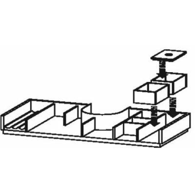 Duravit XSquare organizer do szafki 81 cm klon UV978107878