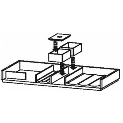 Duravit L-Cube organizer do szafki 82 cm klon UV983107878