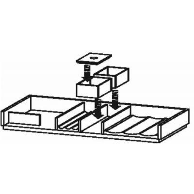 Duravit XSquare organizer do szafki 98,4 cm klon UV988907878