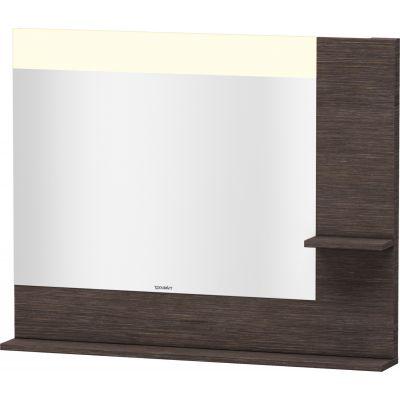 Duravit Vero lustro 100x80 cm z oświetleniem LED i półkami dąb ciemny szczotkowany VE732207272