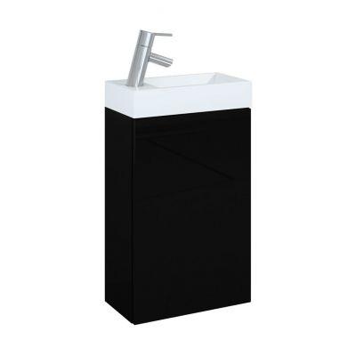 Elita Young Basic zestaw umywalka 40 cm z szafką czarną 163070