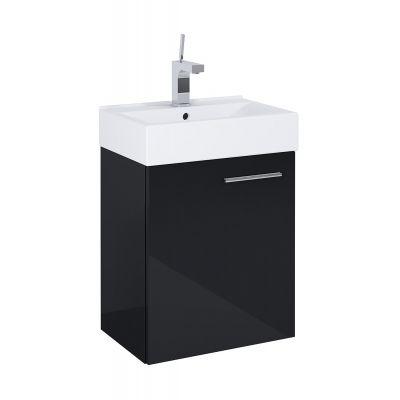 Elita Tiny zestaw umywalka z szafką 45 cm czarny 165794