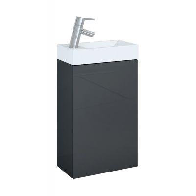 Elita Young Basic zestaw umywalka z szafką 40 cm antracyt 166042
