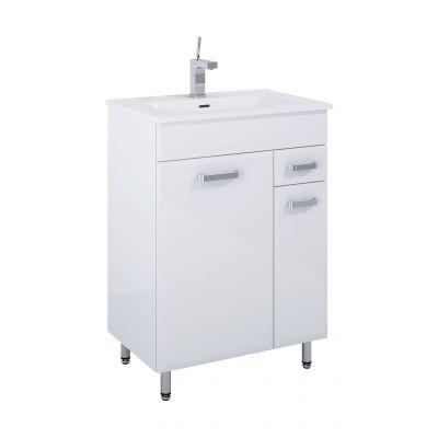Elita Amigo 2D-1S NN zestaw łazienkowy 60 cm umywalka z szafką biała 166466