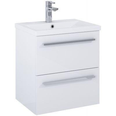 Elita Kwadro Plus umywalka 50 cm z szafką wiszącą biała 166947