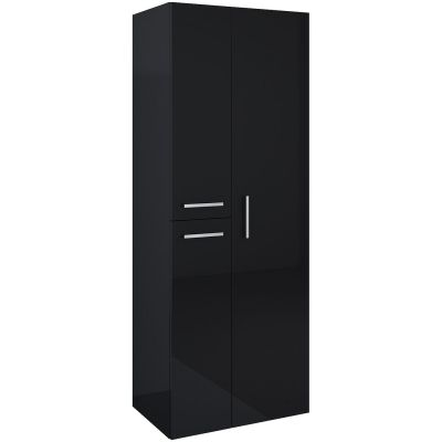 Elita Kwadro Plus szafka boczna 160 cm słupek czarny 167655