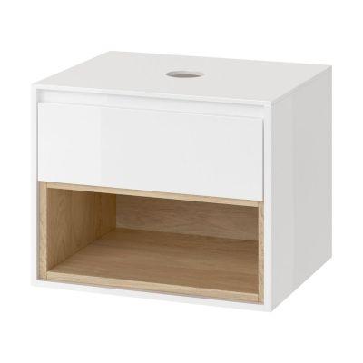 Excellent Tuto szafka 61 cm podumywalkowa biały/dąb MLEX.0102.600.WHBL