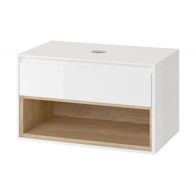 Excellent Tuto szafka 81 cm podumywalkowa biały/dąb MLEX.0102.800.WHBL