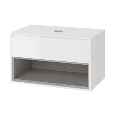 Excellent Tuto szafka 81 cm podumywalkowa biały/beton MLEX.0102.800.WHCO