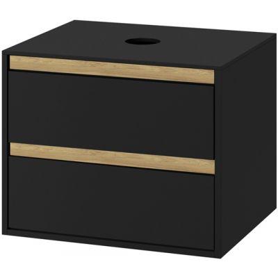 Excellent Tuto szafka 80 cm podumywalkowa wisząca czarny mat/dąb MLEX.0104.800.BKBL