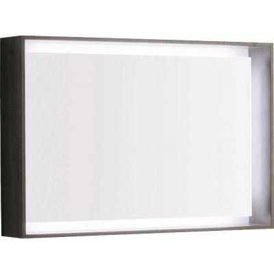 Geberit Citterio lustro 88x58 cm prostokątne z oświetleniem LED dąb szarobrązowy 500.572.JJ.1