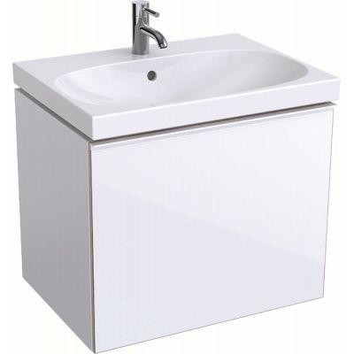 Geberit Acanto szafka 64 cm podumywalkowa wisząca biały połysk 500.610.01.2