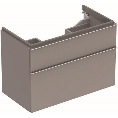 Geberit iCon szafka 89 cm podumywalkowa wisząca platyna 840392000
