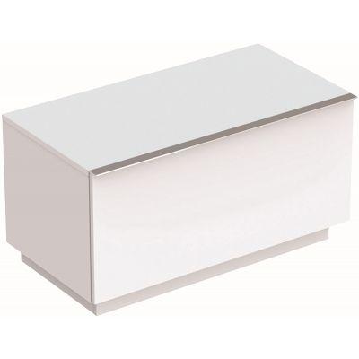 Geberit iCon szafka 89 cm stojąca boczna biały mat 841090000