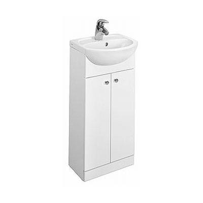 Koło Solo zestaw meblowy 40 cm umywalka z szafką biały połysk 79001-000