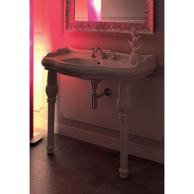 Kerasan Retro noga do umywalki biała 108301