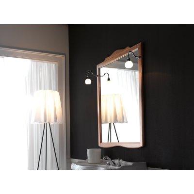 Kerasan Retro lustro 116x92 cm z ramą orzech 734540