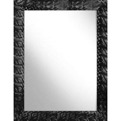 Ars Longa Rio lustro 132x72 cm prostokątne czarne RIO60120-C