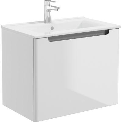 Oltens Jog umywalka 61x39 cm meblowa prostokątna biała 41203000
