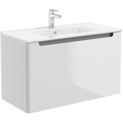 Oltens Jog umywalka 81x39 cm meblowa prostokątna biała 41204000