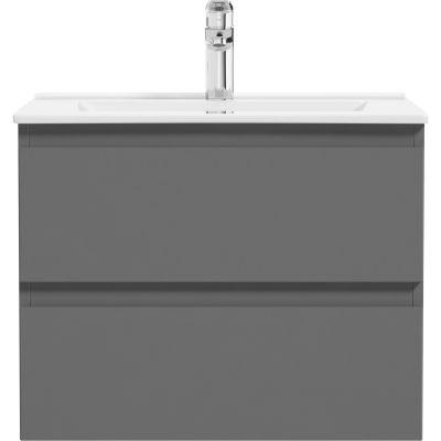 Oltens Vernal umywalka z szafką 60 cm grafit 68000400