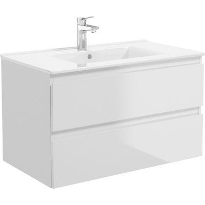 Oltens Vernal umywalka 81x46 cm meblowa prostokątna biała 41206000