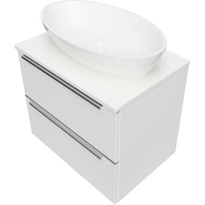 Omnires OmniDream umywalka z szafką 60 cm wiszącą biały połysk DREAMSET6020BP