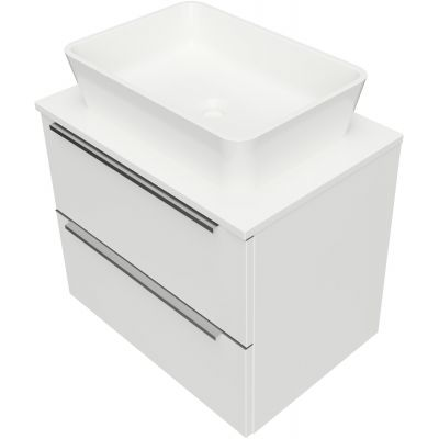 Omnires OmniDream umywalka z szafką 60 cm wiszącą biały połysk DREAMSET6021BP
