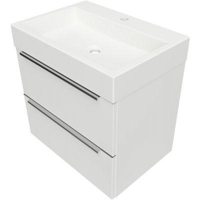 Omnires OmniDream umywalka z szafką 60 cm wiszącą biały połysk DREAMSET6030BP