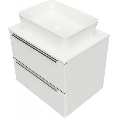 Omnires OmniDream umywalka z szafką 60 cm wiszącą biały połysk DREAMSET6121BP