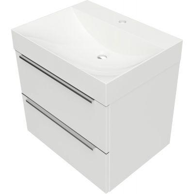 Omnires OmniDream umywalka 60 cm z szafką wiszącą biały połysk DREAMSET6130BP