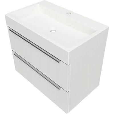 Omnires OmniDream umywalka z szafką wiszącą 70 cm biały połysk DREAMSET7030BP