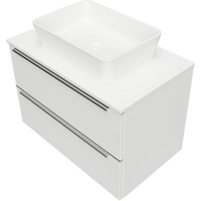 Omnires OmniDream umywalka z szafką 76 cm wiszącą biały połysk DREAMSET7621BP
