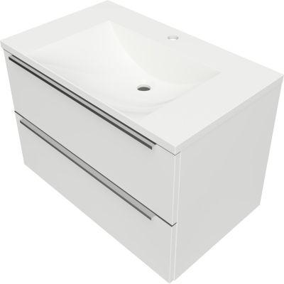 Omnires OmniDream umywalka 76 cm z szafką wiszącą biały połysk DREAMSET7630BP