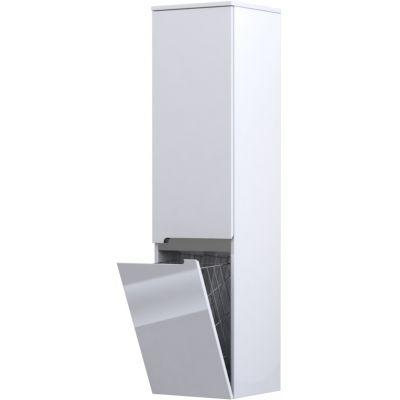 Oristo Silver szafka 35 cm wisząca boczna z koszem lewa biały połysk OR33-SB2D-35-1-KKL