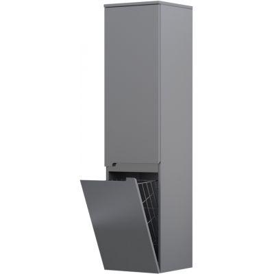 Oristo Silver szafka 35 cm wisząca boczna z koszem prawa szary mat OR33-SB2D-35-4-KKP
