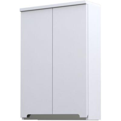 Oristo Silver szafka 50 cm wisząca górna biały połysk OR33-SG2D-50-1