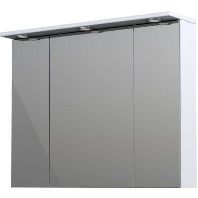 Oristo Silver szafka 90 cm wisząca górna z lustrem biały połysk OR33-SGL3D-90-1